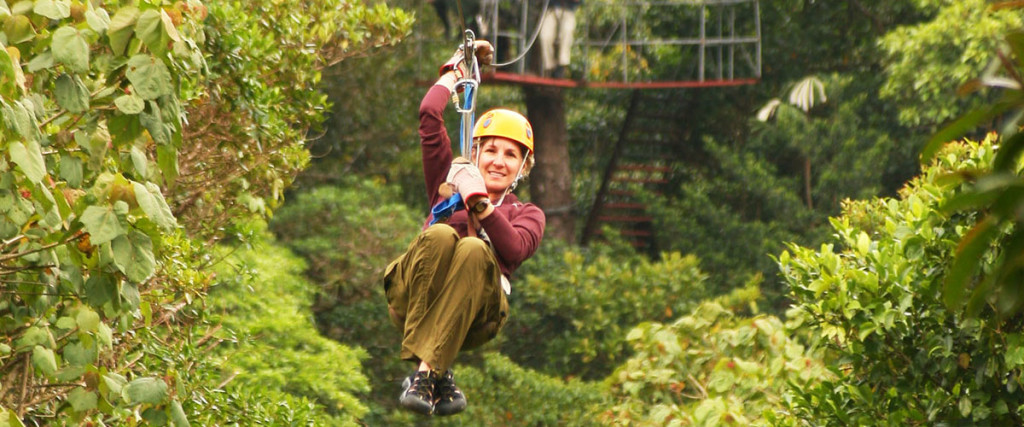 Rainforest ziplining